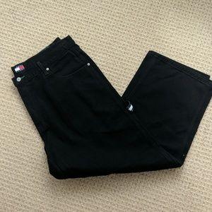 Vintage Men's NWOT Tommy Hilfiger Black Jeans